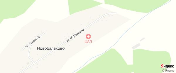 Улица Кызыл Яр на карте села Новобалаково с номерами домов