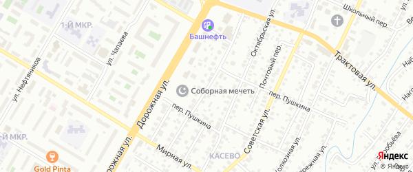 Луговая улица на карте Нефтекамска с номерами домов