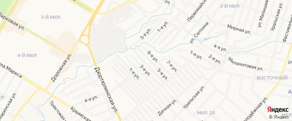 СНТ Нефтяник на карте Нефтекамска с номерами домов