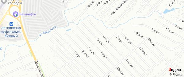 8-я улица на карте СНТ Нефтяника с номерами домов