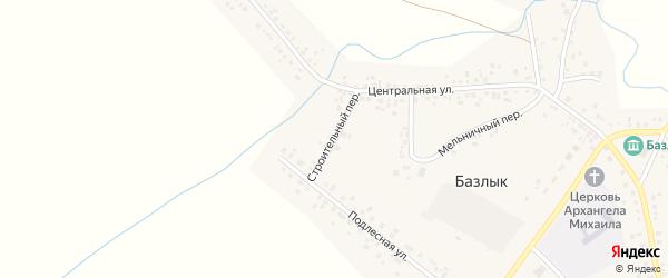 Строительный переулок на карте села Базлыка с номерами домов