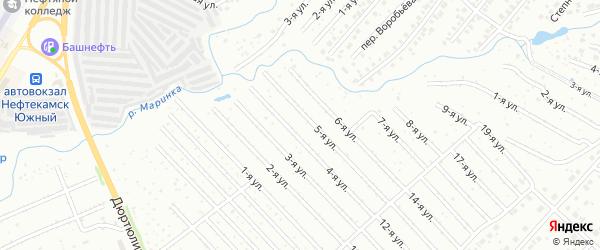 6-я улица на карте СНТ Нефтяника с номерами домов
