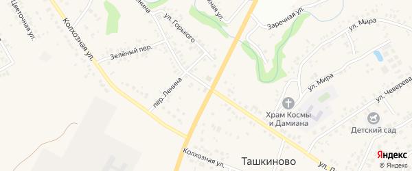 Улица Ленина на карте села Ташкиново с номерами домов