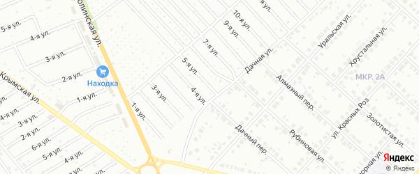 5-я улица на карте СНТ НАТП Южного с номерами домов