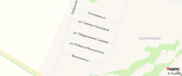 Улица Габдрахмана Сираева на карте села Верхнеяркеево с номерами домов