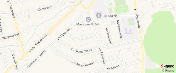 Улица Гагарина на карте села Бижбуляка с номерами домов