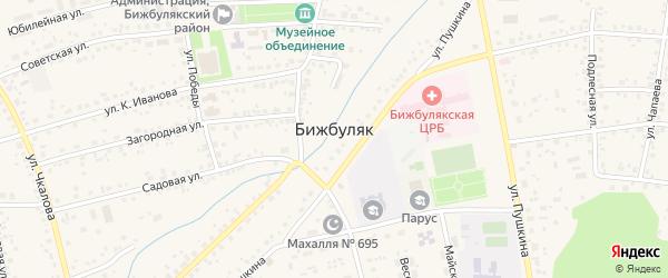 Лесной переулок на карте села Бижбуляка с номерами домов
