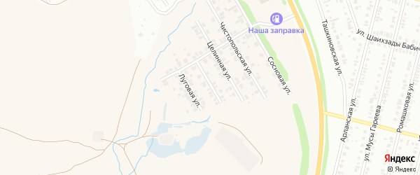 Инициативная улица на карте села Ташкиново с номерами домов