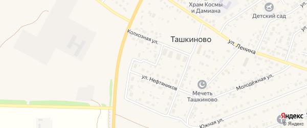 Улица Нефтяников на карте села Ташкиново с номерами домов