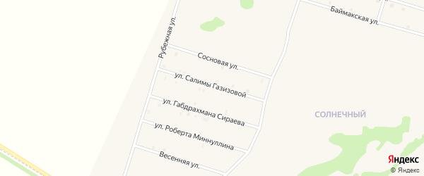 Улица Салимы Газизовой на карте села Верхнеяркеево с номерами домов