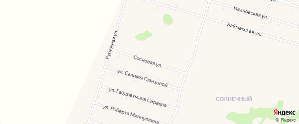 Сосновая улица на карте села Верхнеяркеево с номерами домов