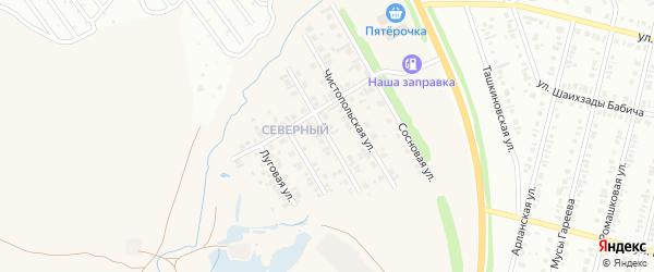 Целинная улица на карте села Ташкиново с номерами домов