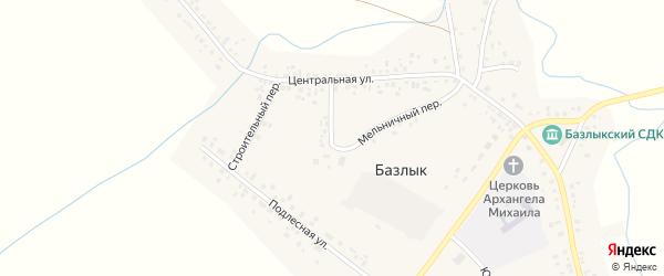 Мельничный переулок на карте села Базлыка с номерами домов