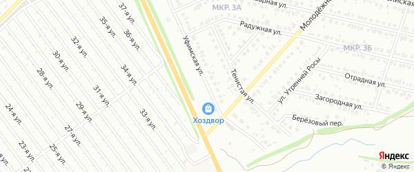 Уфимская улица на карте СНТ Мечты с номерами домов