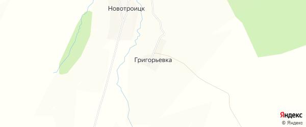 Карта деревни Григорьевки в Башкортостане с улицами и номерами домов