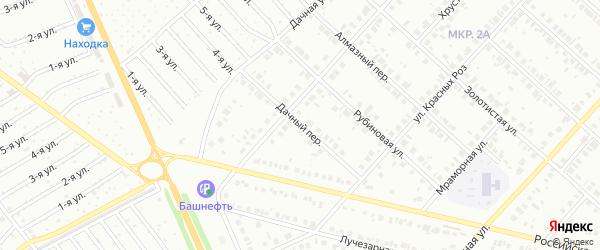 Дачный переулок на карте Нефтекамска с номерами домов