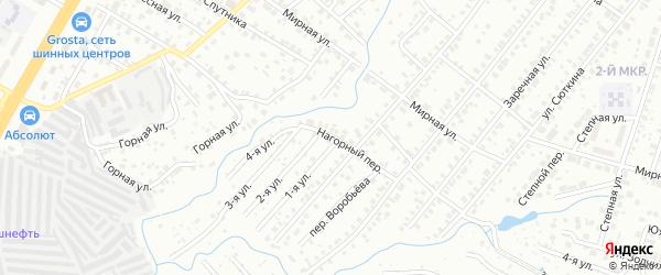 Нагорный переулок на карте Нефтекамска с номерами домов