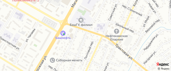 Октябрьская улица на карте Нефтекамска с номерами домов
