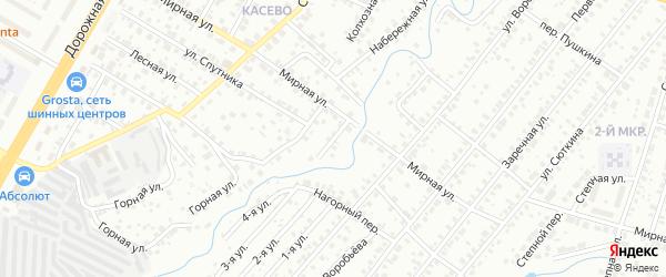 Набережный переулок на карте Нефтекамска с номерами домов