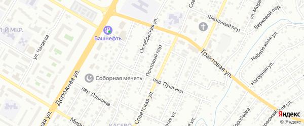 Почтовый переулок на карте Нефтекамска с номерами домов