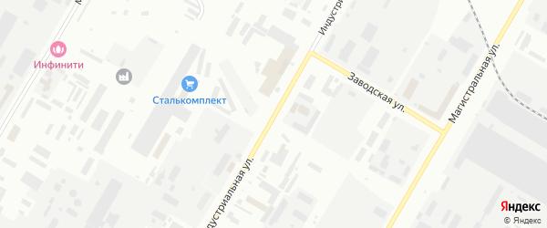 Индустриальная улица на карте Нефтекамска с номерами домов