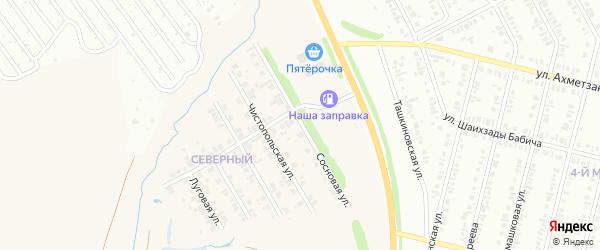 Сосновая улица на карте села Ташкиново с номерами домов