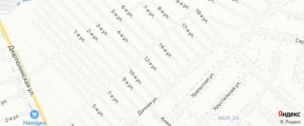 11-я улица на карте СНТ Юбилейного с номерами домов