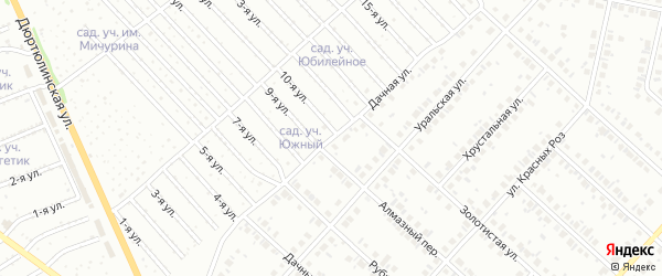 Дачная улица на карте Нефтекамска с номерами домов