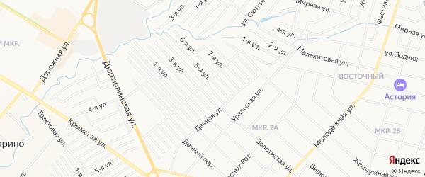 СНТ Юбилейное на карте Нефтекамска с номерами домов
