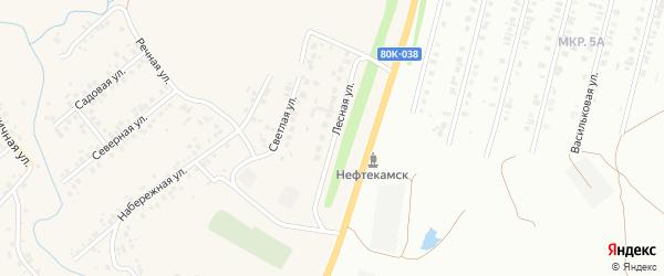 Лесная улица на карте села Ташкиново с номерами домов