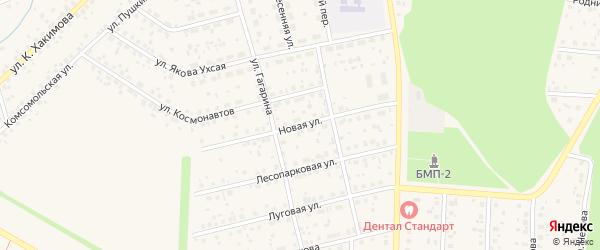 Новая улица на карте села Бижбуляка с номерами домов