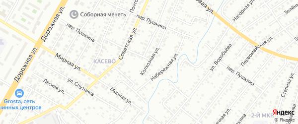 Переулок Гоголя на карте Нефтекамска с номерами домов