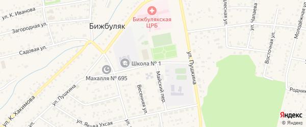 Спортивная улица на карте села Бижбуляка с номерами домов