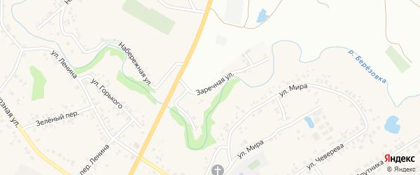 Заречная улица на карте села Ташкиново с номерами домов