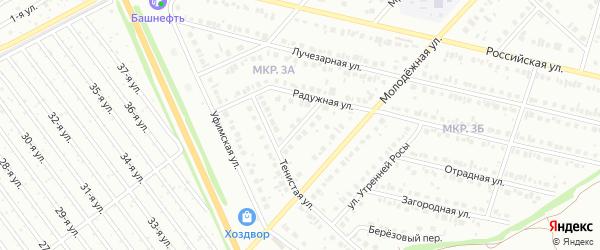 Веселый переулок на карте Нефтекамска с номерами домов
