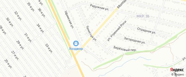Тенистая улица на карте Нефтекамска с номерами домов