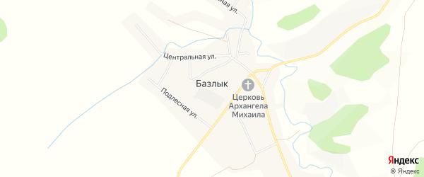 Карта села Базлыка в Башкортостане с улицами и номерами домов