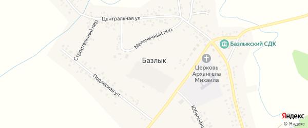 Речная улица на карте села Базлыка с номерами домов