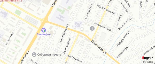Трактовая улица на карте Нефтекамска с номерами домов