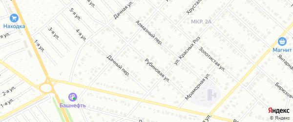 Рубиновая улица на карте Нефтекамска с номерами домов