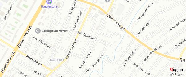 Переулок Пушкина на карте Нефтекамска с номерами домов