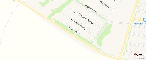 Хвойная улица на карте села Верхнеяркеево с номерами домов