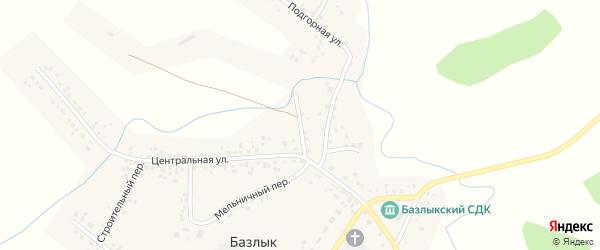 Родниковый переулок на карте села Базлыка с номерами домов