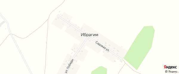 Садовая улица на карте деревни Ибрагима с номерами домов