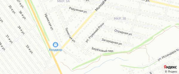Улица Утренней росы на карте Нефтекамска с номерами домов