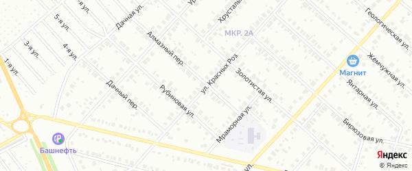 Улица Красных Роз на карте Нефтекамска с номерами домов