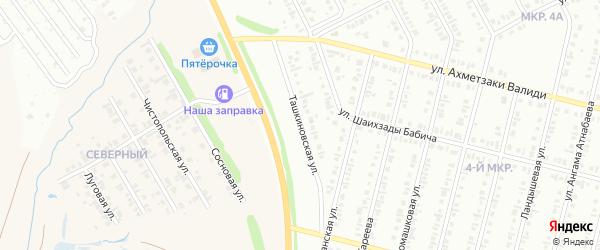 Ташкиновская улица на карте Нефтекамска с номерами домов