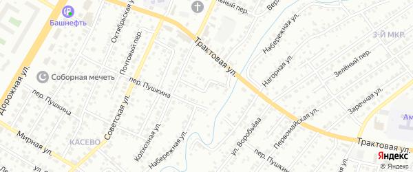 Мостовой переулок на карте Нефтекамска с номерами домов