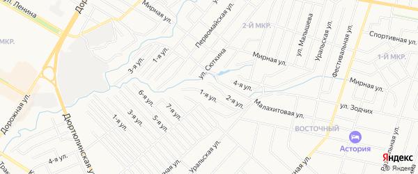 СНТ Геофизик на карте Нефтекамска с номерами домов
