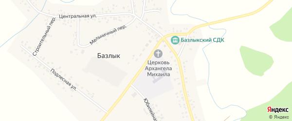 Шоссейная улица на карте села Базлыка с номерами домов